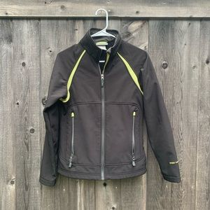 Free Country Black Green Weather Full Zip Jacket S